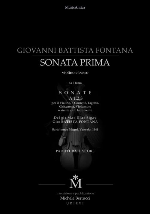 Product picture Fontana Sonata prima a violino e bc