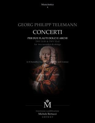 Product picture Telemann - Concerti per due flauti TWV 51:B1 & TWV 52:a2